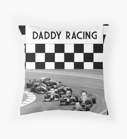 Baby Daddy Racing Throw Pillow