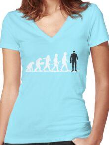 Evolution Borg! Women's Fitted V-Neck T-Shirt