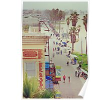 Sunday at Venice Beach - On the Boardwalk Poster