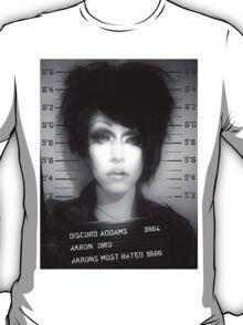 Discord Addams Mugshot.  T-Shirt