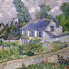 Vincent van Gogh - Houses at Auvers by TilenHrovatic
