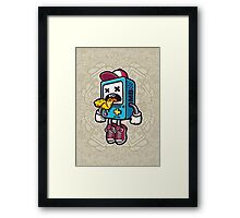 Bad BMO Cartoon Character Framed Print