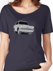 Ford Anglia - Semi Transparent Women's Relaxed Fit T-Shirt