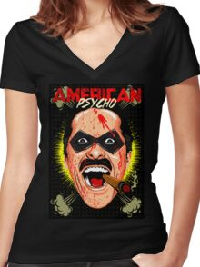 American Psycho Comedian Edition Women's Fitted V-Neck T-Shirt