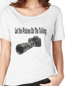 ♂ ♀ ∞ ☆ ★ PHOTOGRAPHERS APPAREL-Camera  With Telephoto Lense T-Shirt-JOURNAL,PILLOWS,ECT. ♂ ♀ ∞ ☆ ★ Women's Relaxed Fit T-Shirt