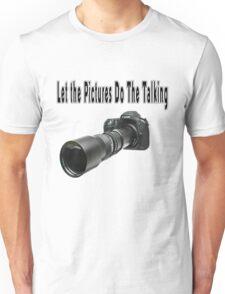 ♂ ♀ ∞ ☆ ★ PHOTOGRAPHERS APPAREL-Camera  With Telephoto Lense T-Shirt-JOURNAL,PILLOWS,ECT. ♂ ♀ ∞ ☆ ★ Unisex T-Shirt