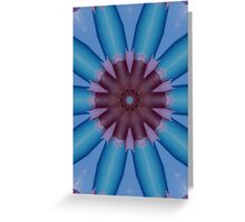 """Blue Aruba Flower"" by Carter L. Shepard Greeting Card"