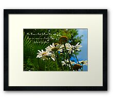 The flower that follows the sun does so even on cloudy days Framed Print