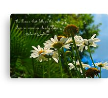 The flower that follows the sun does so even on cloudy days Canvas Print