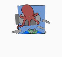 An Octopus. Riding a bomb. Unisex T-Shirt