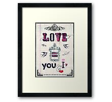 Love = You and I Framed Print
