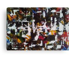Abstract Ink and acrylic I Canvas Print