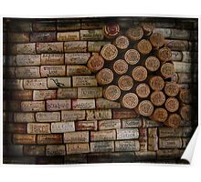 Wine Cork Wall 353 Poster