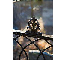 Fenced bokeh Photographic Print