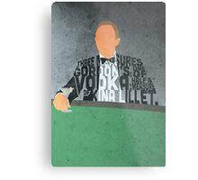 Daniel Craig in James Bond Casino Royale Typography Design Metal Print