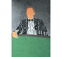 Daniel Craig in James Bond Casino Royale Typography Design Photographic Print