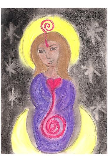 Diosa Maria del Corazon Sagrado  by Paola Suarez