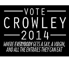 Supernatural - Vote Crowley (White) Photographic Print