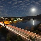 Austin images - Full Moon Setting over the 360 Bridge by RobGreebonPhoto
