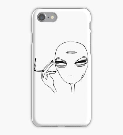Smoking Alien  iPhone Case/Skin