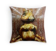 Seated Meditation of a Very Wise Frog Throw Pillow