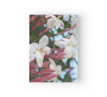 Pink Buds and Jasmine Blossom Close Up Hardcover Journal