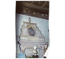 Fireplace and mantel Ducal Palace Sabbionetta Italy 19840422 0015 Poster
