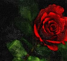 rose on it's own oil painting by DrWhoJohnSmith