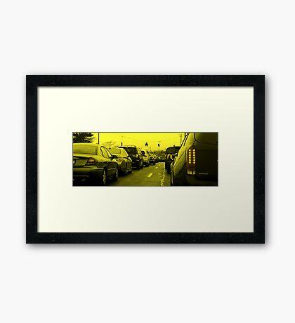 Saturday Traffic Framed Print