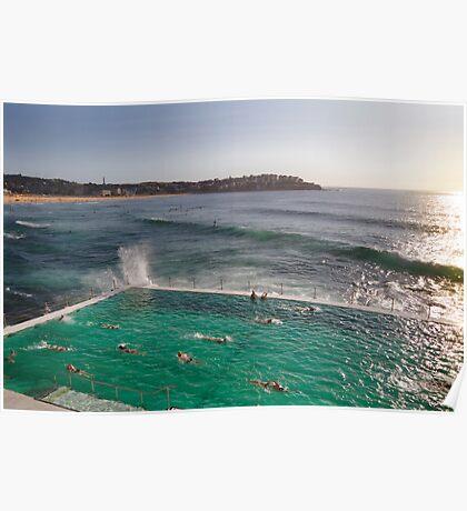 Iceberg Pool at Bondi, Sydney Poster
