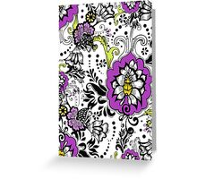 Flowers on White Greeting Card