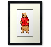 Poo The Bear Framed Print