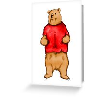 Poo The Bear Greeting Card