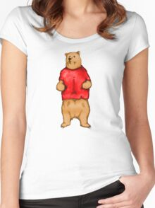 Poo The Bear Women's Fitted Scoop T-Shirt