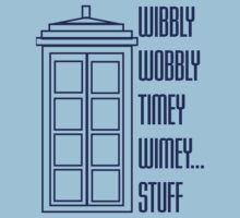 Wibbly Wobbly Timey Wimey...Stuff One Piece - Short Sleeve