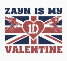 Zayne is My Valentine British Flag One Direction Valentines Day  by xdurango