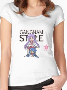 Gangnam Style Parody Women's Fitted Scoop T-Shirt