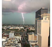 Brisbane Lightning Storm January 2014 Photographic Print