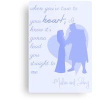 true to your heart Metal Print