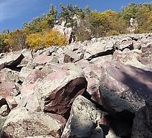 Devils Lake Wisconsin Climb by Timothy  Ruf