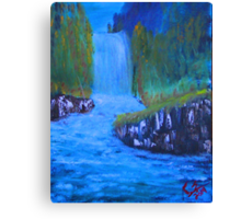 """Forgotten Falls"" by Carter L. Shepard Canvas Print"