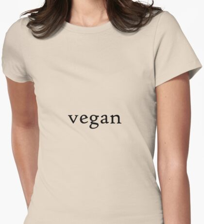 Vegan Pride Womens Fitted T-Shirt