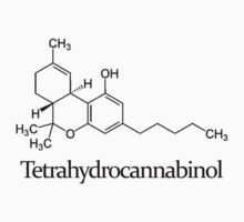 Tetrahydrocannabinol Molecule With Text by anthonyv77