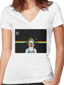 Kid Cudi Women's Fitted V-Neck T-Shirt
