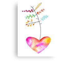 Heart Arrow Canvas Print