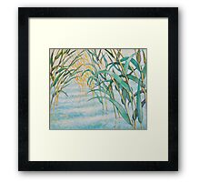 In the reeds Framed Print