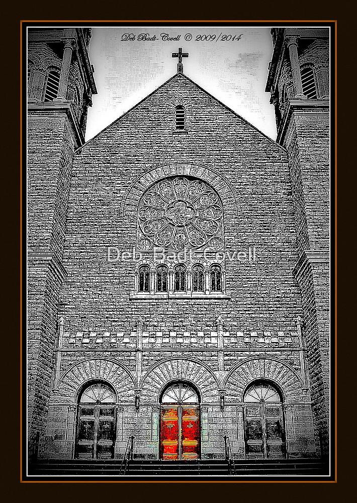 Basilica of St. Adalbert's - 1 Copper Door by Deb  Badt-Covell