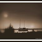 Muskegon Dinner Cruise Boat (Revisited/Sepia - 2014) by Deb  Badt-Covell