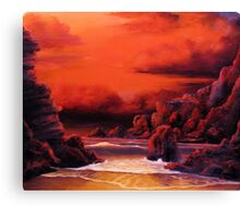 RED SKY SUNSET Canvas Print