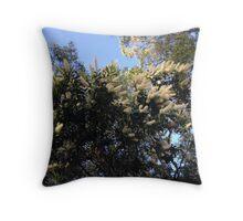 Golden Wattle Throw Pillow